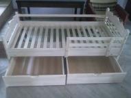 Bērnu gulta ar divām atvilknēm 160X80 - 120.euro
