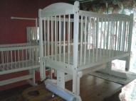 Bērnu gultiņa 120X 60cm uz gultņu  šarnīriem 125. eiro